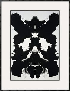Rorschach, c.1984 by Andy Warhol. Framed Art Print from Art.com.