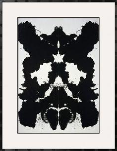Rorschach, c.1984 by Andy Warhol. Framed Art Print from Art.com.