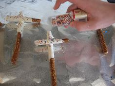 chocolate covered pretzel crosses