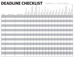 Mini-Deadline Checklist
