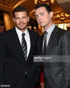 News Photo : Actors David Boreanaz and Colin Hanks arrive at...