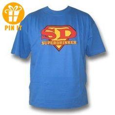 Rahmenlos® SD SuperDrinker Fun T-Shirt, blau - AUSVERKAUF, Größe:M - T-Shirts mit Spruch | Lustige und coole T-Shirts | Funny T-Shirts (*Partner-Link)