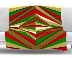Christmas Pattern by Danny Ivan Fleece Throw Blanket