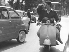 papillonsauvage:  Kiss on a Vespa, Italy, 60s