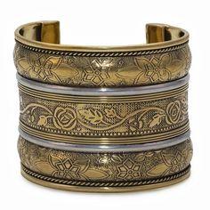 Handmade Anika Goldtone Brass Cuff Bracelet https://sitaracollections.com/collections/bracelets-cuffs-and-bangles/products/anika-goldtone-brass-cuff