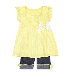 $18.00 Starting Out Infant 2Piece Ruffled Tunic and Bermuda Set #Dillards
