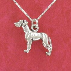 Great Dane Pendant Sterling Silver on Gift Card with by Classy925