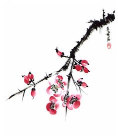 watercolor cherry blossom tattoos | Japanese