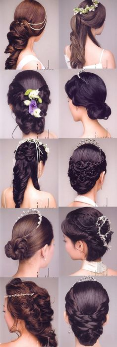 beautiful hair options for weddings and other special occasions - im really liking the top right one