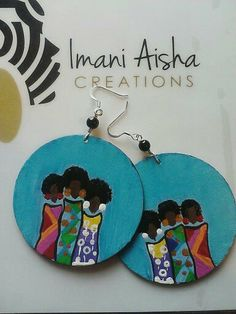 Natural Hair Sisters Earrings by Imani by ImaniAishaCreations