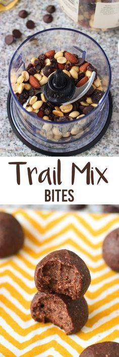 Trail Mix Bites - a quick and customizable snack recipe that uses just five ingredients (and a food processor). mysequinedlife.com