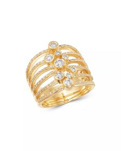 Bloomingdale's - Diamond Bezel Statement Ring in 14K Yellow Gold, 0.70 ct. t.w. - 100% Exclusive Jewelry Accessories, Women Jewelry, Unique Jewelry, Statement Rings, Gold Rings, White Gold, Wedding Rings, Rose Gold, Engagement Rings