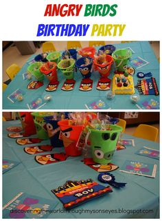 "Angry Birds Birthday ""Lunch"" Party"
