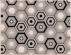 Amazon.com: Hero Arts Hexagon Background Woodblock Decorative Stamp: Arts, Crafts & Sewing