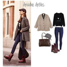"""1. Ariadne Artiles. Buenos días! Comenzos otra tanda de """"Get the look"""" con este street style de la modelo Ariadne Artiles ¿Qué os parece? #getthelook #ariadneartiles #streetstyle #brownie #tagsforlike"""
