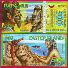 EASTER ISLAND NOTE 500 RONGO 2012 UNC ISLA DE PASCOA PACIFIC OVERSEAS EXCHANGE O