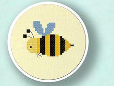 Honey Honey. Bee Cross Stitch Pattern PDF File by andwabisabi