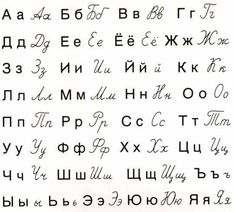 The Russian alphabet (Russian: русский алфавит, transliteration: rússkij alfavít) uses letters from the Cyrillic script. The modern Russian alphabet consists of 33 letters. Alphabet Latin, Cyrillic Alphabet, Russian Language Learning, Language Study, Learning Spanish, Alphabet Russe, Alphabet Print, Graffiti Alphabet, Learn Russian Alphabet