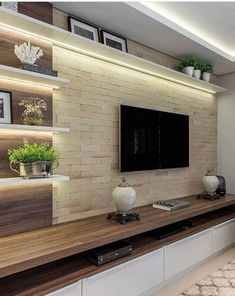 The perfect TV wall ideas that won& sacrifice your looks - 05 -. - The perfect TV wall ideas that won& sacrifice your looks – 05 – closet – # living room - Room Design, Tv Wall Design, Wall Unit Designs, Living Room Wall Units, Tv Room Design, Modern Tv Room, Living Room Design Modern, Living Room Tv Unit Designs, Living Room Designs