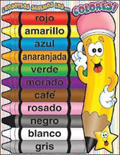 Spanish Color Names Worksheet | I Speak my Mind | Pinterest ...