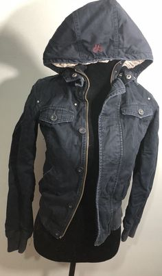 The coat is in very good used condition. Nike Jacket, Motorcycle Jacket, Navy Blue, Clothes For Women, Lady, Coat, Jackets, Fashion, Outerwear Women