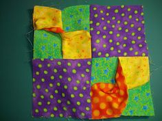 ! Sew we quilt~ Guest Block Elaine...with a....3 D Twisty Tube. Thursday, November 10, 2011.