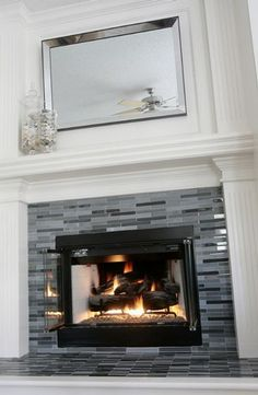 DIY Fireplace Makeover | Living rooms, Mantle and Mantels