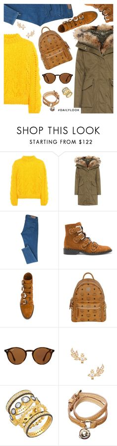 """""""Daily Look"""" by dressedbyrose ❤ liked on Polyvore featuring Ganni, Woolrich, Givenchy, MCM, Ray-Ban, Vivienne Westwood, Freida Rothman, Mulberry, StreetStyle and ootd"""