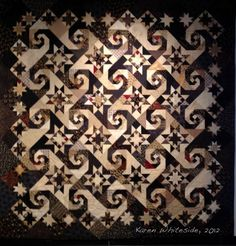 Shakespeare in the Park quilt by Passionate Quilter. Pattern is in The Creative Pattern Book by Judy Martin