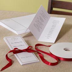 Platinum Hearts Wedding Program DIY Kit | #exclusivelyweddings