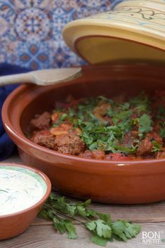 Healthy Slow Cooker, Slow Cooker Recipes, Cooking Recipes, Healthy Recipes, Tajin Recipes, Appetizer Dishes, Egyptian Food, Good Food, Yummy Food