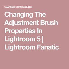 Changing The Adjustment Brush Properties In Lightroom 5 | Lightroom Fanatic
