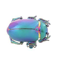 Balenciaga Metal Beetle Clip-on Earring For Spring-Summer 2017