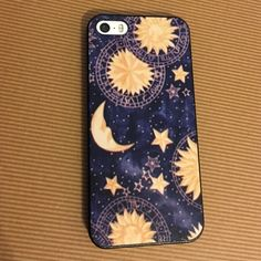 iPhone 5s case Moon and star hard plastic iPhone 5s case. Barley used. Accessories Phone Cases