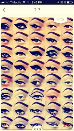 how to put eyeliner in different ways