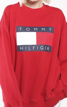 799a6203da63 Vintage Tommy Hilfiger Logo Sweatshirt