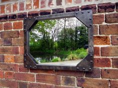 Galvanised tank mirror