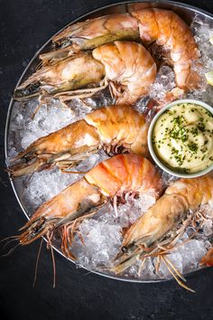 Look how big these fresh King Prawns are! #foodie