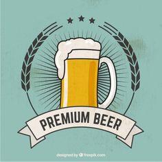 la bière premium Vecteur gratuit