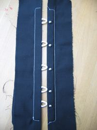 How to insert a corset busk - This will help when I rip apart an order corset for the busk and make a new one :)