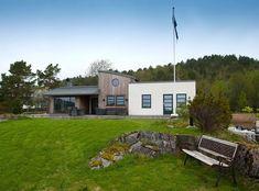 Inspirasjon: Fire flotte funkishus bygget med Leca - Byggmakker Cottage, Outdoor Structures, Cabin, Modern, Cottages, Farmhouse