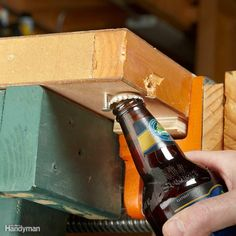 Essential Workbench Accessory - A nail or screw protruding under your workbench…