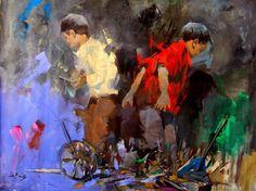 Iraqi painter Ali Nemah  الفنان العراقي علي نعمة