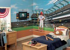 Boys Room Baseball Mural