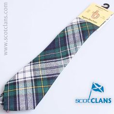 Campbell Dress Tartan Tie from ScotClans