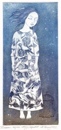 """Dream"" - Etching by Marina Terauds."