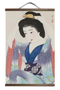Want to refresh and liven up your room? This Japanese Ukiyo-e Wall Art Canvas will be the brightest decoration if you want to refresh and liven up your room. It can help you create a relaxing atmosphere at home, and add a modern touch to the look of the room. The hanger is made of real wood. This wall art can be easily hung and place. Flexible placement will not damage this canvas and you can change out the place whenever you want.