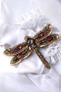 Brooch - Dragonfly http://www.livemaster.ru/rezcova