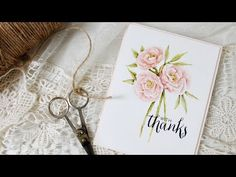 Stamp Away With Me: VIDEO: Watercoloring Pretty Peonies