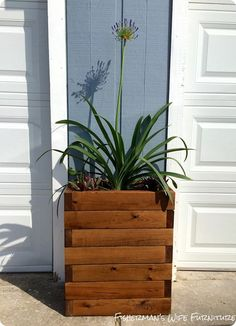 DIY Projects | Make a Restoration Hardware knock off planked wood planter for only $30 with this tutorial!